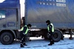 Road policemen have released Russians from a frosty captivity